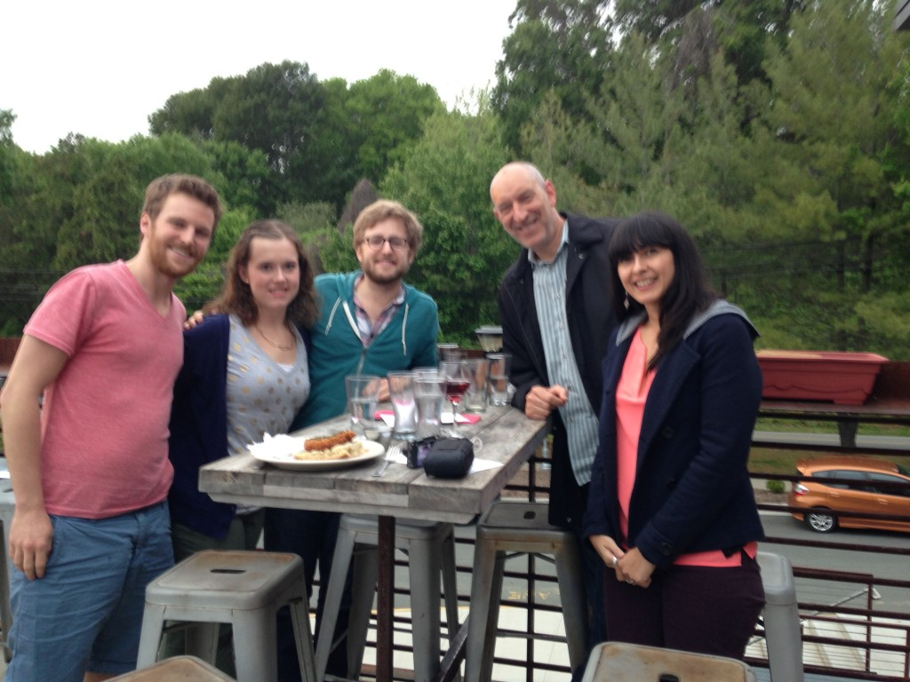 Penn Lab Members and Dr. David Penn with visiting scholar from Australia, Cali Bartholeumsz (pictured far right)