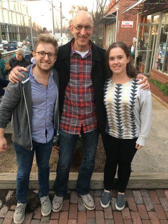Dr. David Penn with Ben Buck and Emily Gagen on Internship Match Day 2017