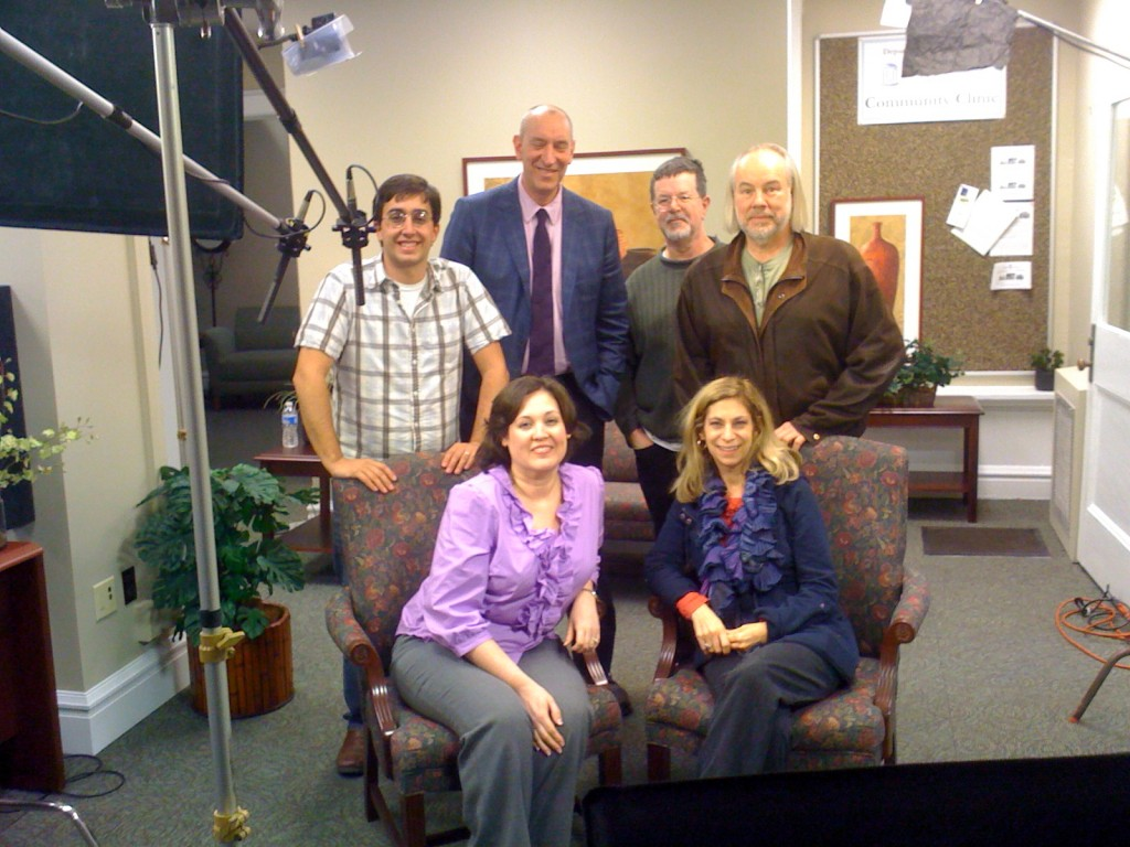 IRT Film Crew at Evergreen with Dr. David Penn