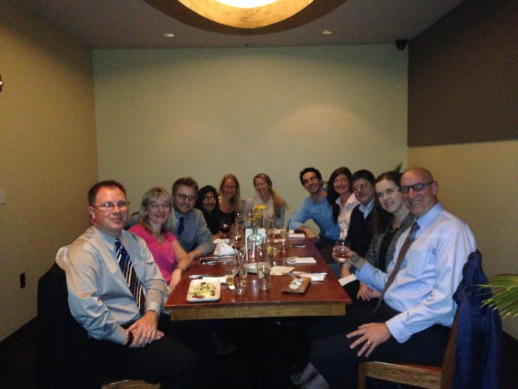ABCT Dinner with Bob Heinssen, and laumni Shannon Couture and Dennis Combs, and lab guest Matt Cohen