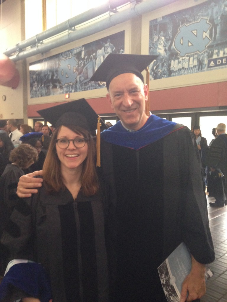 Katy Harper with Dr. Penn, earning her doctorate